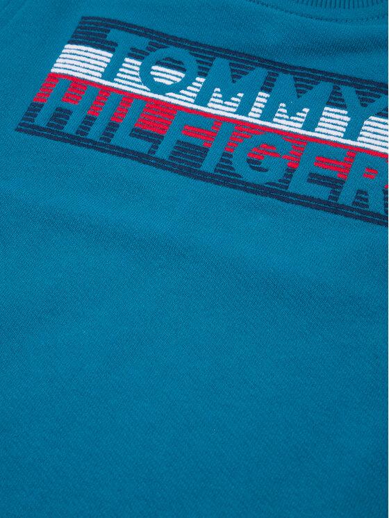 Tommy Hilfiger Tommy Hilfiger Суитшърт Logo Embroidered KB0KB04949 S Син Regular Fit