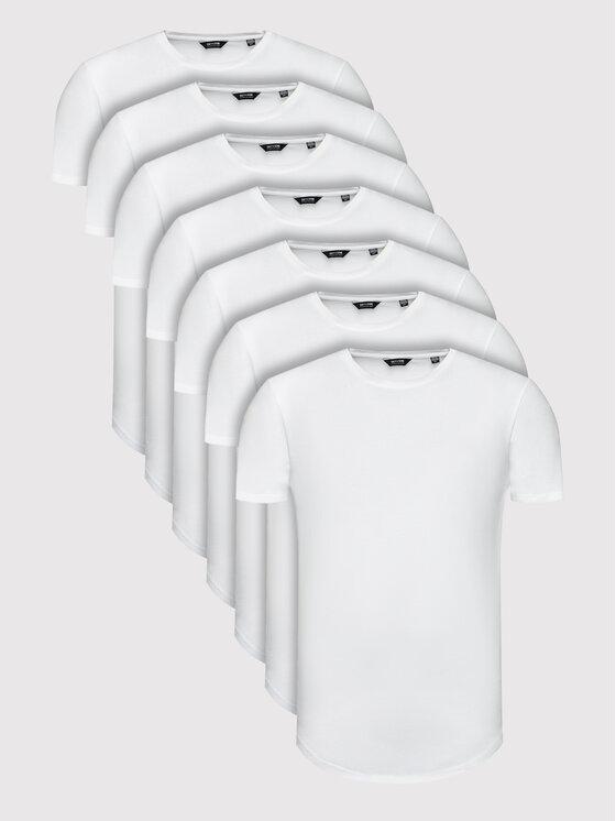 Only & Sons 7 marškinėlių komplektas Matt Life Longy 22012787 Balta Regular Fit