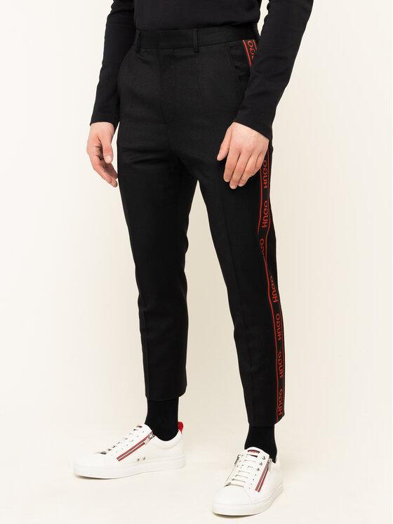Hugo Hugo Spodnie materiałowe Farlys194F1 50418736 Czarny Relaxed Fit