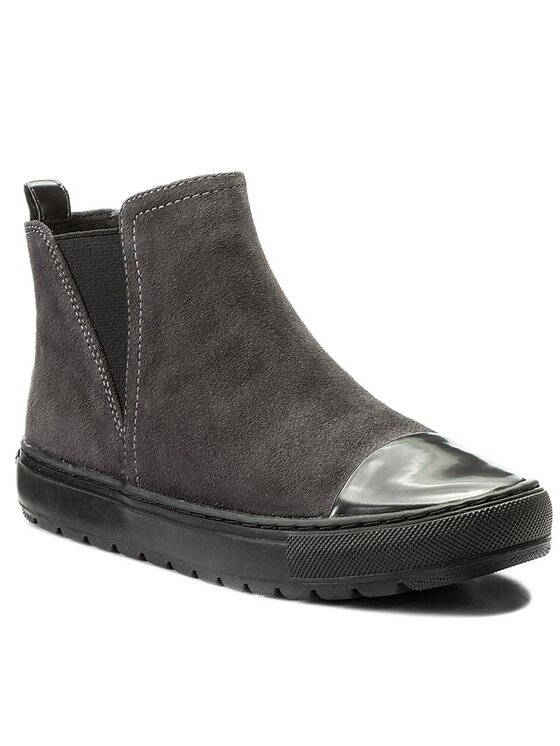 Geox Geox Kotníková obuv s elastickým prvkem D Breed E D642QE 00022 C9004 Šedá