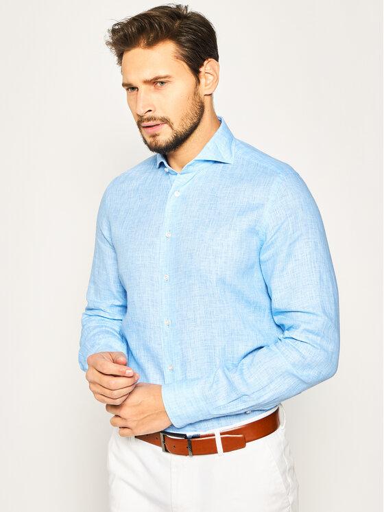 Emanuel Berg Marškiniai Harvard PEB47866 Mėlyna Modern Fit