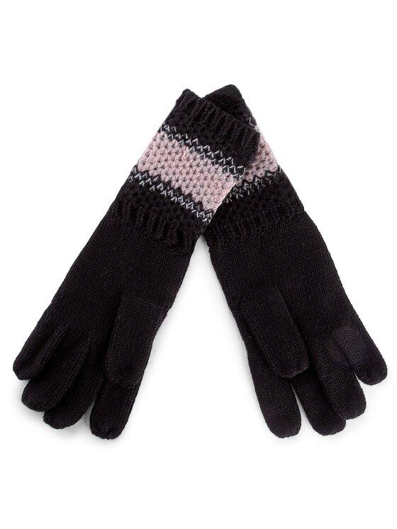 Guess Guess Dámske rukavice Not Coordinated Wool AW6484 WOL02 S Čierna