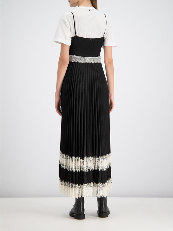 TwinSet TwinSet Sukienka letnia 192TP2282 Czarny Regular Fit