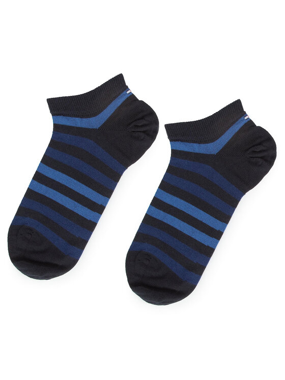 TOMMY HILFIGER TOMMY HILFIGER Lot de 2 paires de chaussettes basses homme 382000001 Bleu marine
