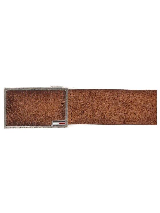 Tommy Hilfiger Tommy Hilfiger Cintura da uomo DENIM Thd Leather Plaque Belt 4.0 90 AM0AM02421 Marrone
