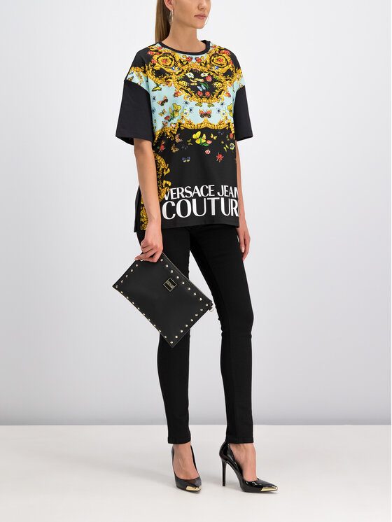 Versace Jeans Couture Versace Jeans Couture T-Shirt B2HUA7DP Μαύρο Regular Fit