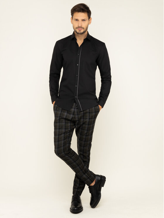 Hugo Hugo Camicia Emilionn 50420889 Nero Extra Slim Fit