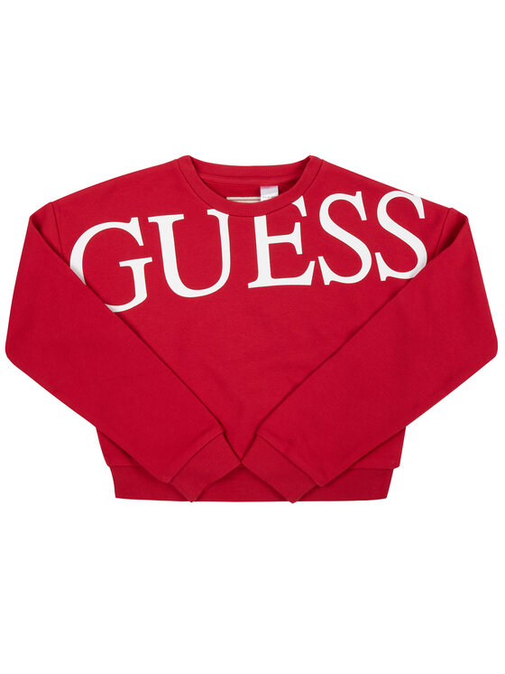 Guess Guess Sweatshirt J93Q04 K8ZT0 Rot Regular Fit