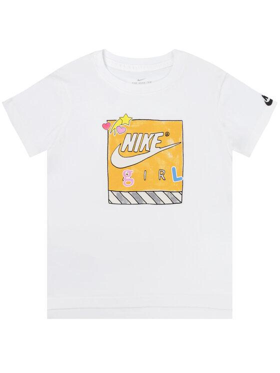 NIKE NIKE T-Shirt CN2322 Biały Standard Fit