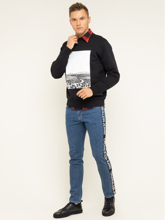 Calvin Klein Jeans Calvin Klein Jeans Felpa Road Reg J30J313426 Nero Regular Fit