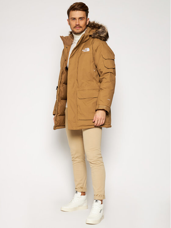 The North Face The North Face Parka Recycled Mcmurdo NF0A4M8G1731 Brązowy Regular Fit