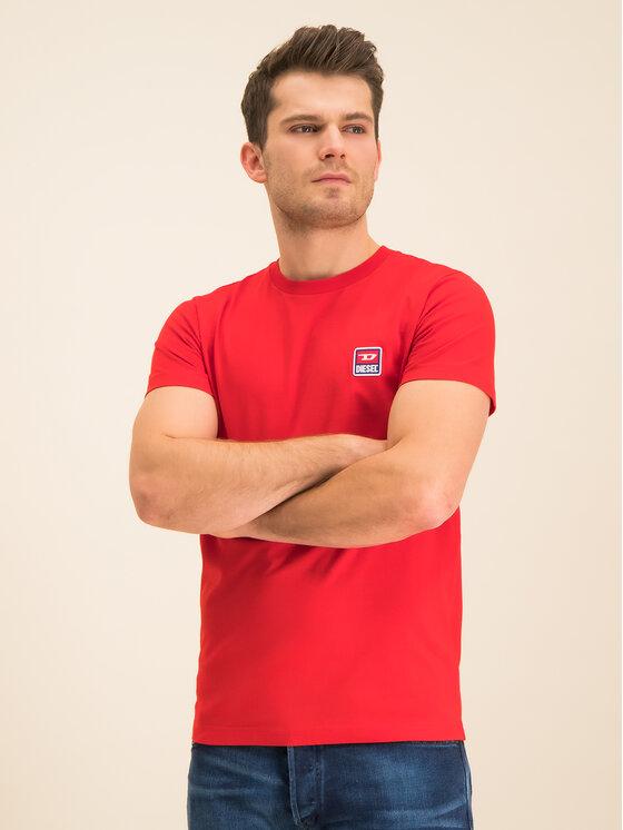 Diesel Diesel T-shirt T-Diego 00SZ7W 0PATI Rouge Regular Fit
