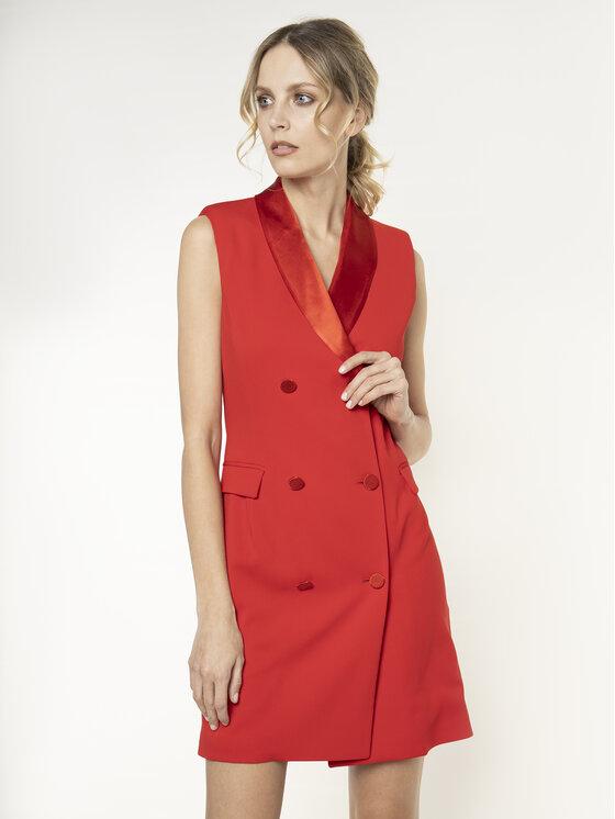Manila Grace Kokteilinė suknelė A083PU Raudona Regular Fit
