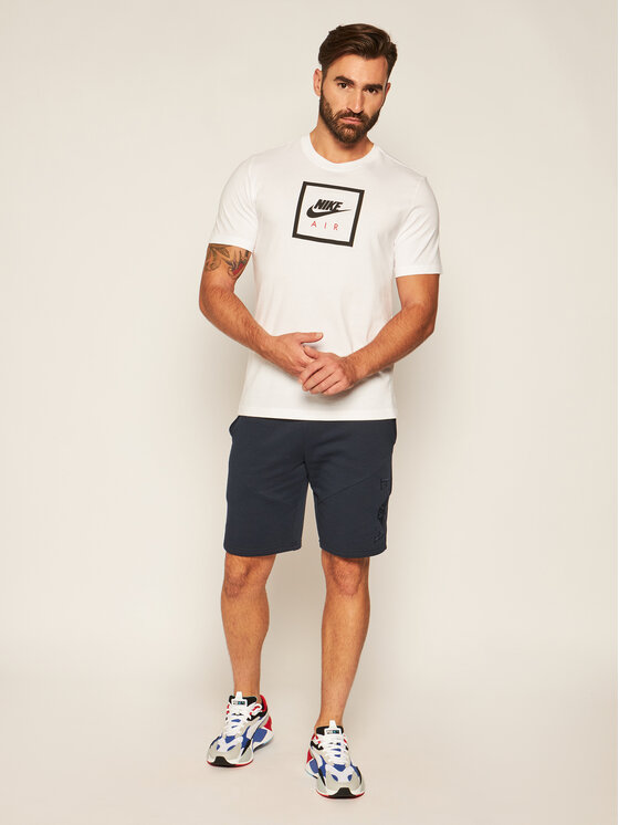 Nike Nike T-Shirt Air BV7639 Biały Standard Fit