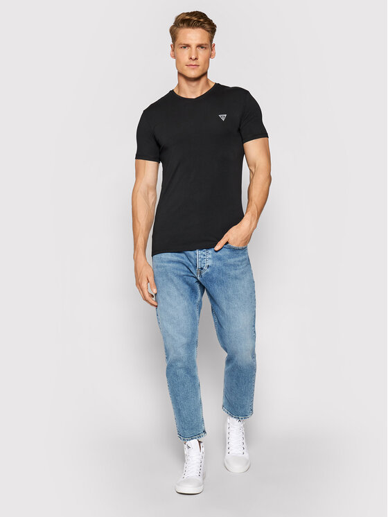Guess Guess Komplet 2 t-shirtów U97G03 JR003 Czarny Slim Fit