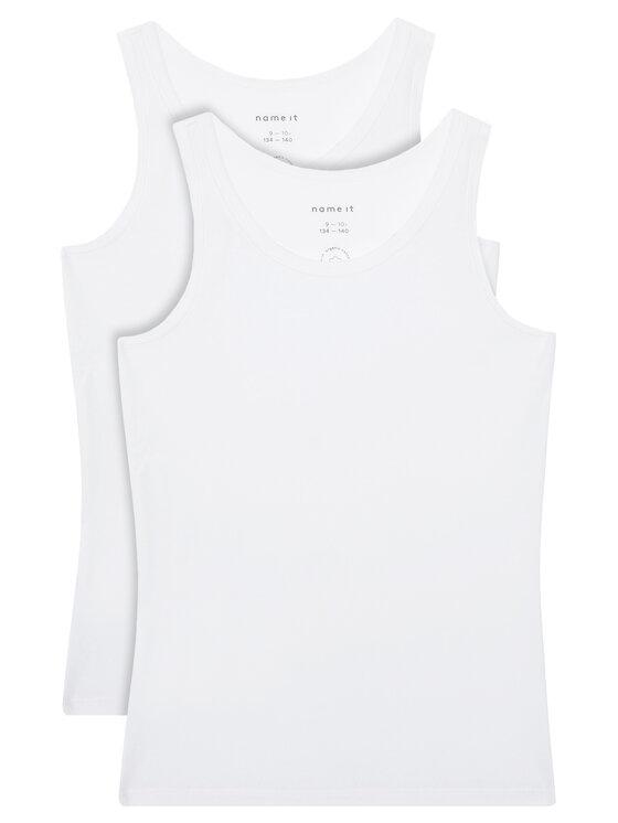 NAME IT 2 marškinėlių komplektas 13163571 Balta Slim Fit