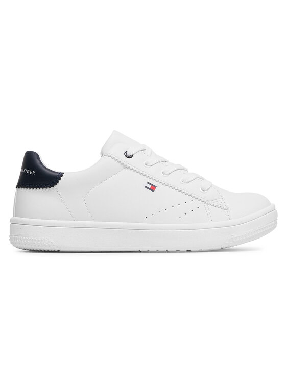 Tommy Hilfiger Tommy Hilfiger Sneakersy Low Cut Lace-Up SneakerT3B4-31086-0193 Biały