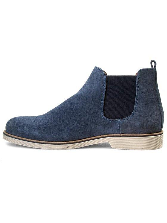 Tommy Hilfiger Tommy Hilfiger Kotníková obuv s elastickým prvkem Dunn 3B FM56818817 Modrá