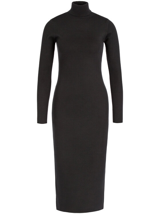 My Twin My Twin Úpletové šaty 192MT3014 Čierna Regular Fit