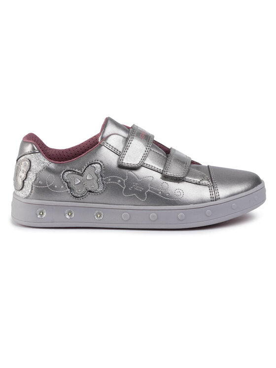 Geox Geox Laisvalaikio batai J Skylin G. C J948WC 0NFKN C1009 DD Sidabrinė