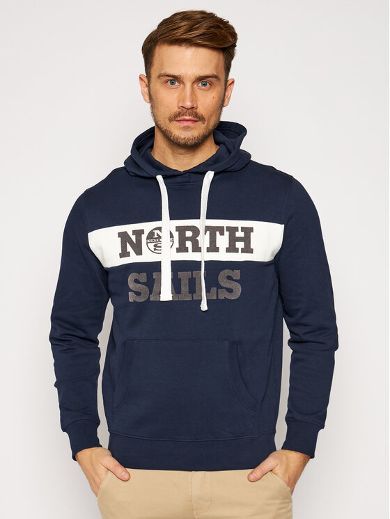 North Sails Džemperis Graphic 691554 Tamsiai mėlyna Regular Fit