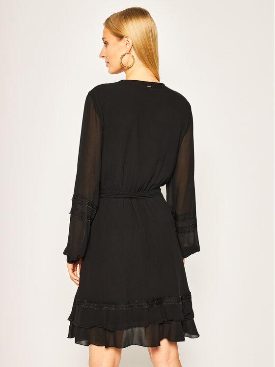 Silvian Heach Silvian Heach Коктейлна рокля Kokoya CVP20151VE Черен Slim Fit