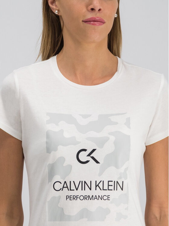 Calvin Klein Performance Calvin Klein Performance T-Shirt 00GWF9K200 Bílá Regular Fit