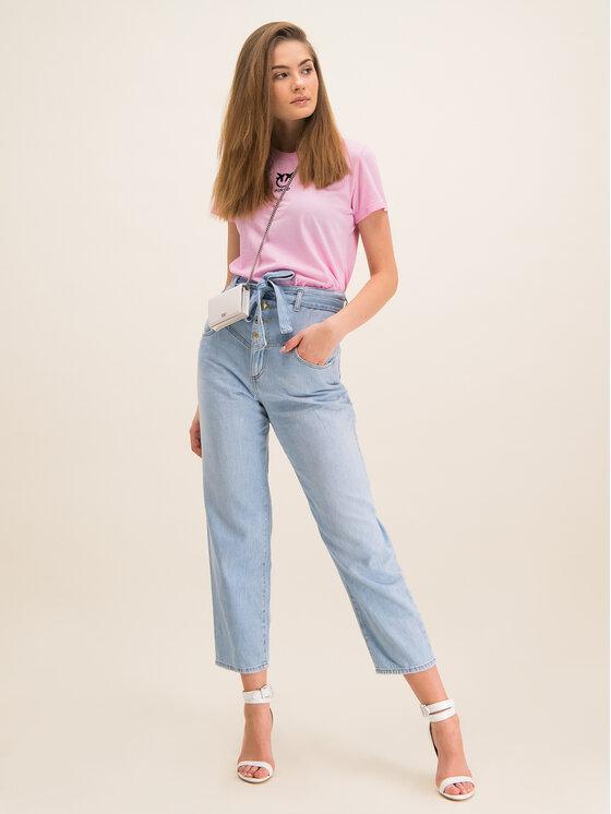 Pinko Pinko T-Shirt Bussolano PE 20 BLK01 1G14XB Y651 Różowy Regular Fit