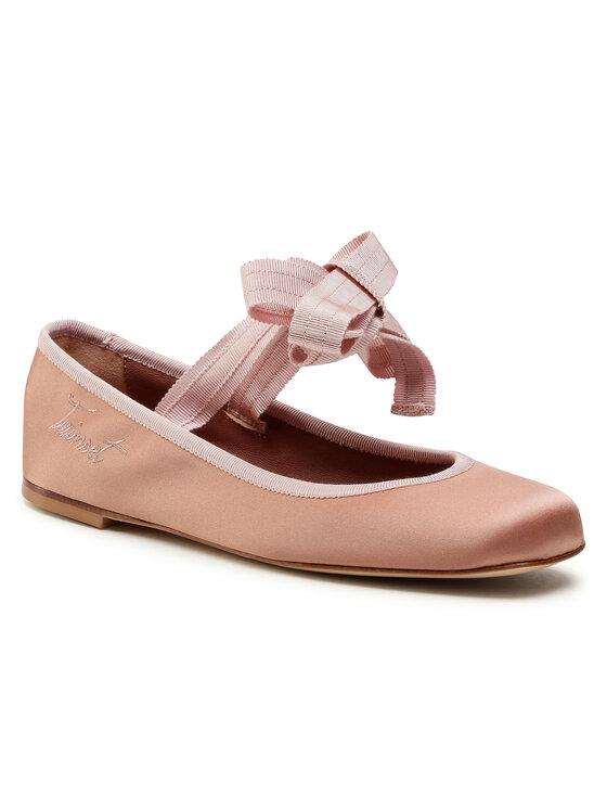 Balerini dama TwinSet Ballerina 202TCP200 roz