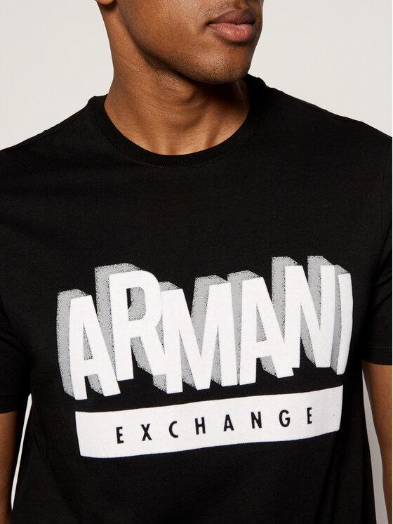 Armani Exchange Armani Exchange T-Shirt 6GZTEA ZJN7Z 1200 Μαύρο Regular Fit