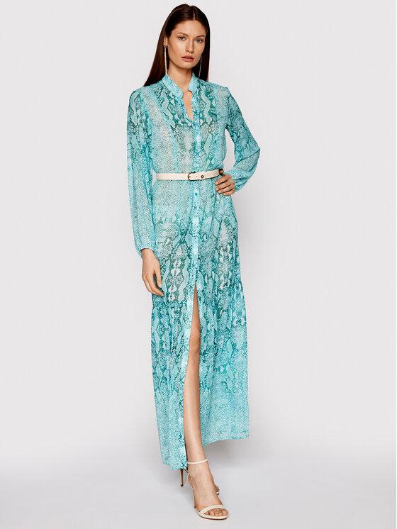 Liu Jo Beachwear Liu Jo Beachwear Sukienka plażowa VA1159 T4863 Zielony Relaxed Fit