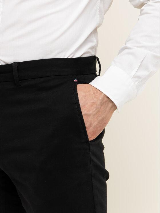TOMMY HILFIGER TOMMY HILFIGER Medžiaginės kelnės Denton MW0MW12576 Juoda Straight Fit