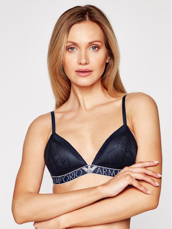 Emporio Armani Underwear Braletė liemenėlė 164298 1P216 00135 Tamsiai mėlyna