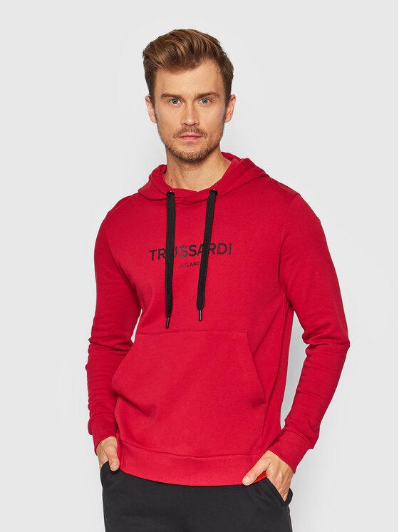 Trussardi Džemperis 52F00176 Raudona Regular Fit