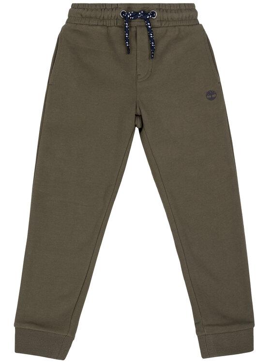 Timberland Timberland Teplákové kalhoty T24A66 Zelená Regular Fit