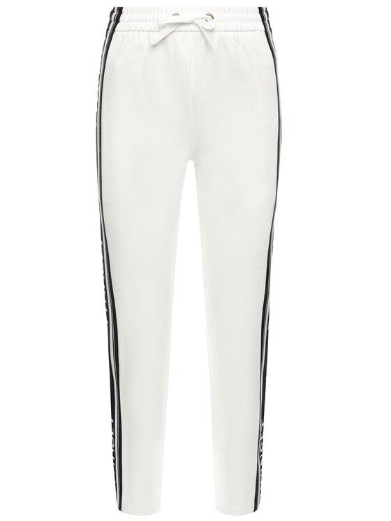 TwinSet TwinSet Παντελόνι φόρμας 201TP2072 Λευκό Regular Fit