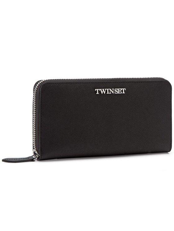 TwinSet TwinSet Duży Portfel Damski AS7T53 Czarny