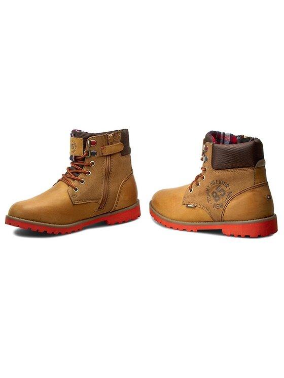 Tommy Hilfiger Tommy Hilfiger Turistická obuv Houston Jr 1C FB56821693 Hnědá