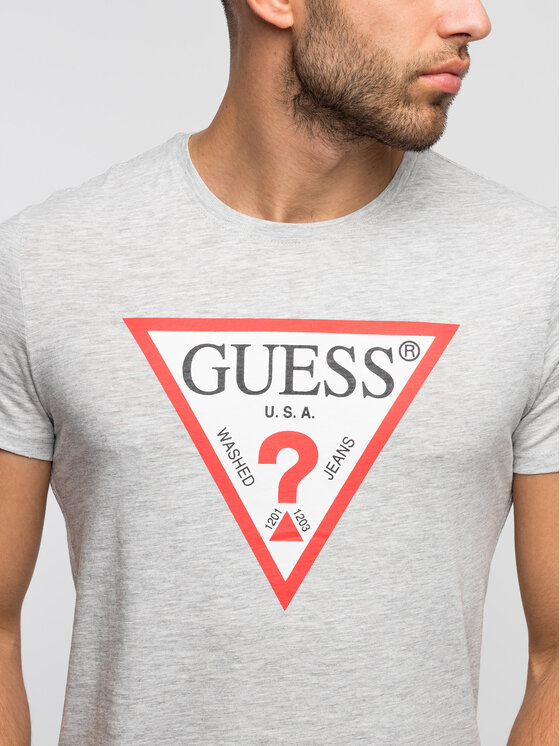 Guess Guess T-Shirt M92I17 K6XN0 Γκρι Slim Fit