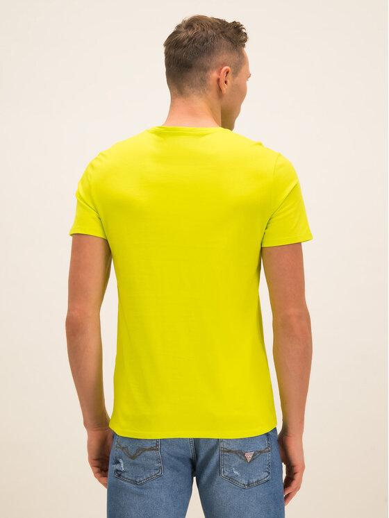 Guess Guess T-Shirt M01I36 I3Z00 Πράσινο Slim Fit