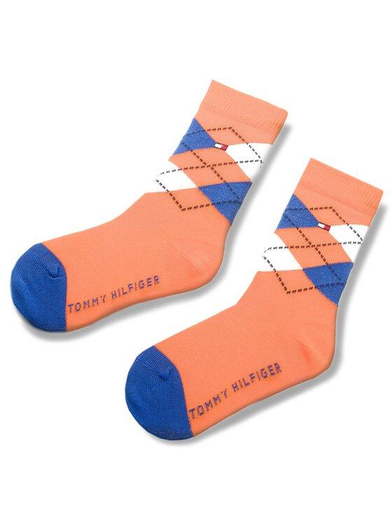 Tommy Hilfiger Tommy Hilfiger Set di 2 paia di calzini lunghi da bambini 334013001 Blu scuro