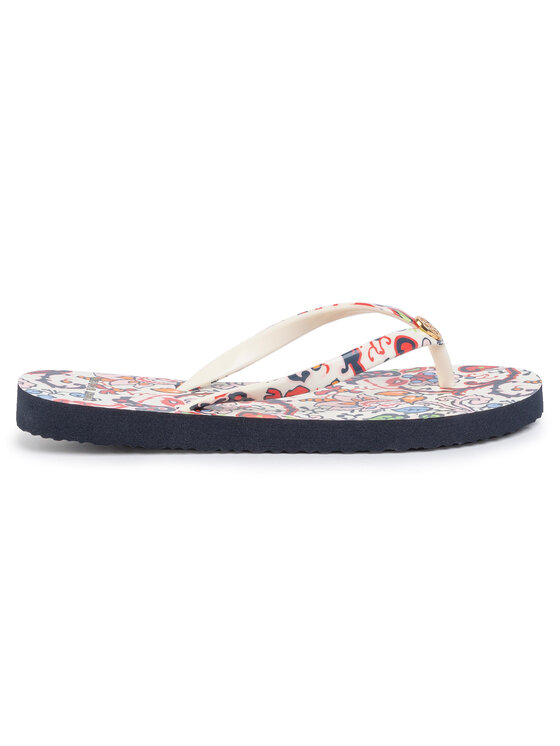 Tory Burch Tory Burch Zehentrenner Printed Thin Flip Flop 60420 Weiß
