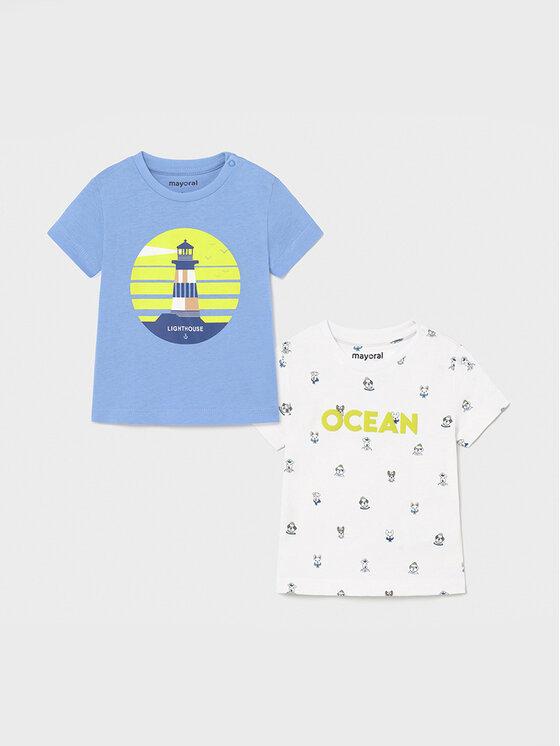 Mayoral 2 marškinėlių komplektas 1008 Mėlyna Regular Fit