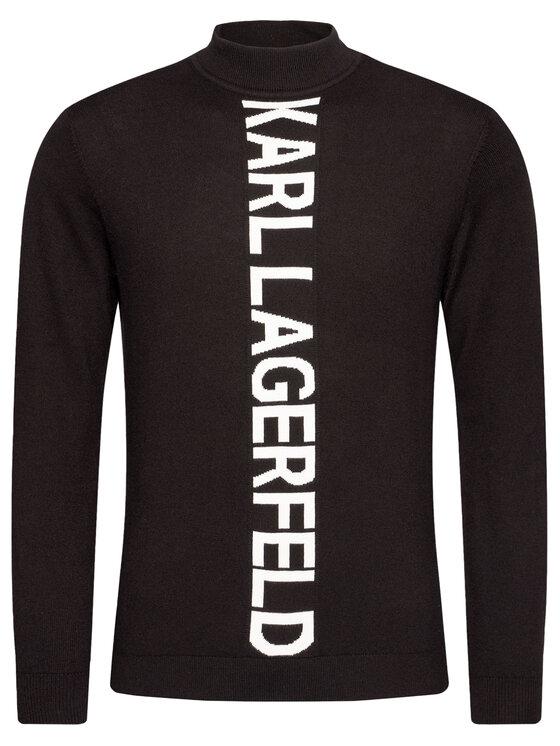 KARL LAGERFELD KARL LAGERFELD Golf Knit Turtleneck 655035 502305 Czarny Regular Fit