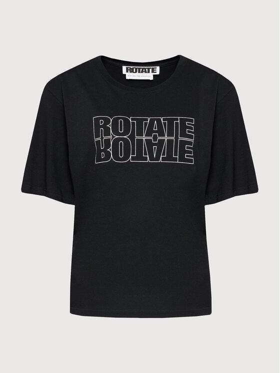 ROTATE Marškinėliai Aster Tee RT444 Juoda Loose Fit