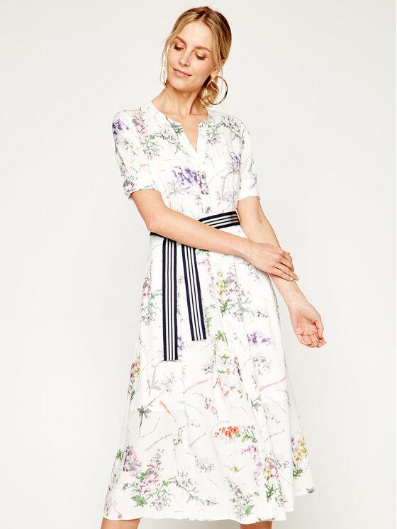 Pennyblack Sukienka koszulowa Mansueto 22210320 Biały Regular Fit