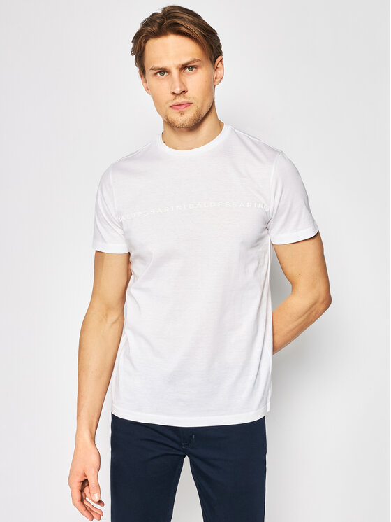 Baldessarini Marškinėliai Theo 47398/000/5357 Balta Modern Fit