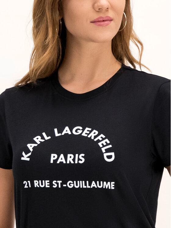 KARL LAGERFELD KARL LAGERFELD Spódnica skórzana 96KW1209 Czarny Regular Fit