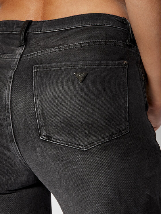 Guess Guess Jeans Slim Fit New Sexy Curve Lace Up W93A71 D3OV0 Nero Skinny Fit