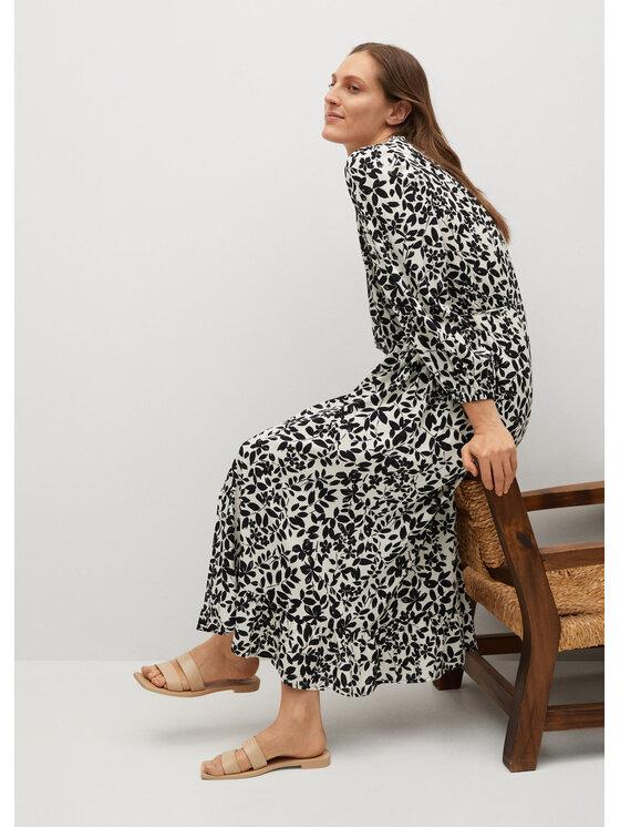 Mango Sukienka koszulowa Cherry 87045668 Beżowy Regular Fit